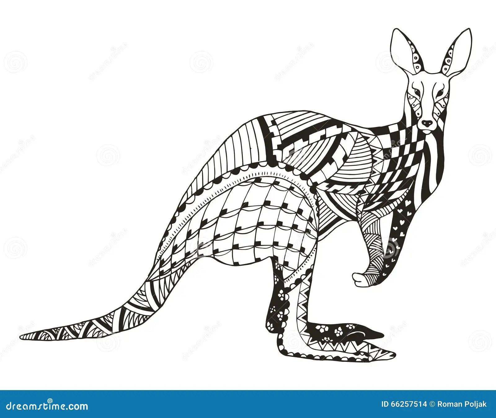 Le Zentangle De Kangourou A Stylise Dirige Illustration