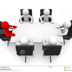 Office Sitting Chairs Discount Chair Covers Leadership And Team At Conference Table Stock Photo - Image Of Developed, White: 23799630