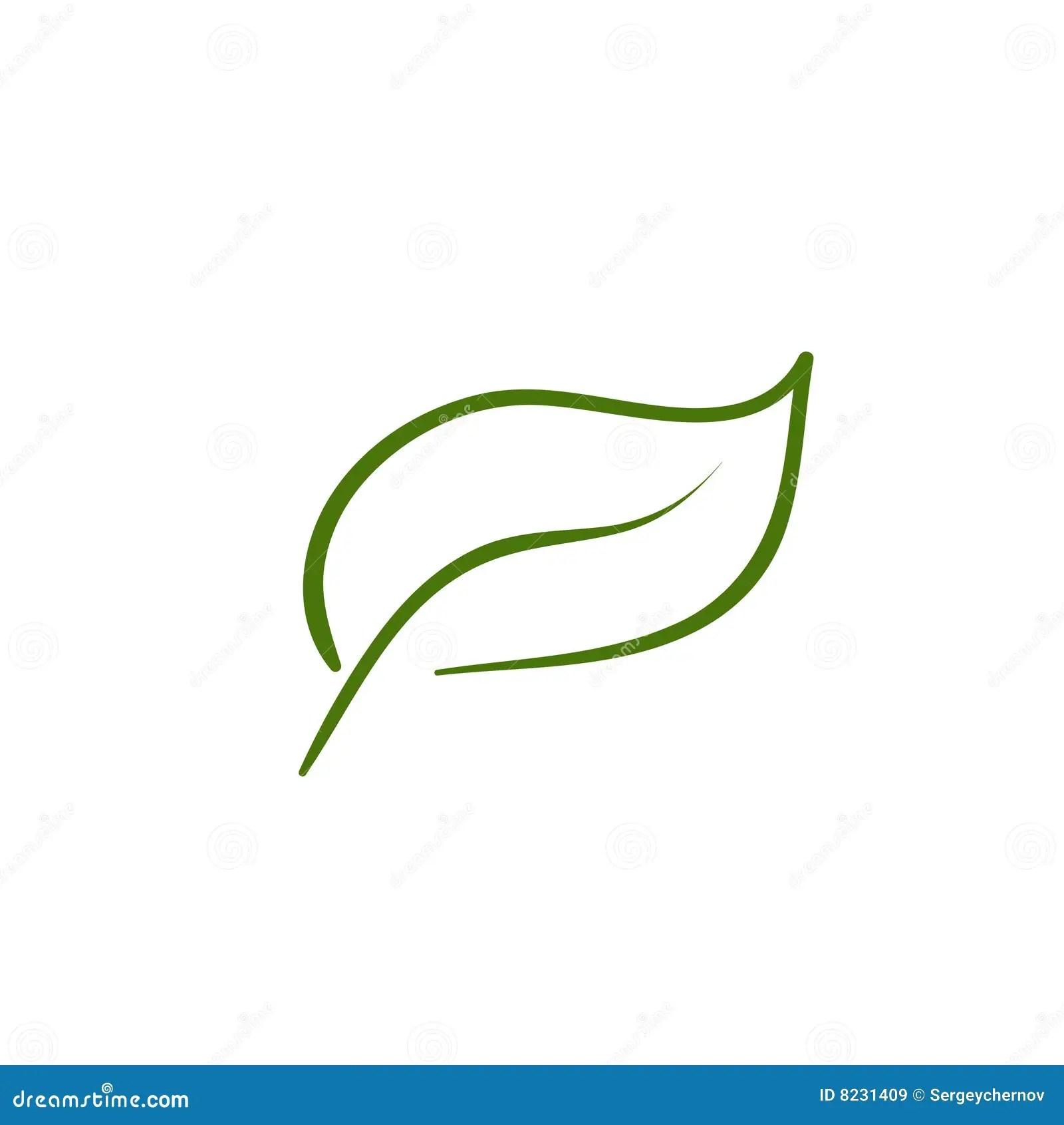 Leaf Artistic Line Royalty Free Stock Images
