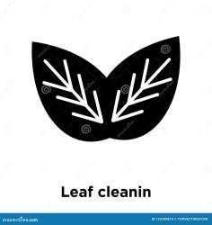 Black Transparent Leaf Vector Png