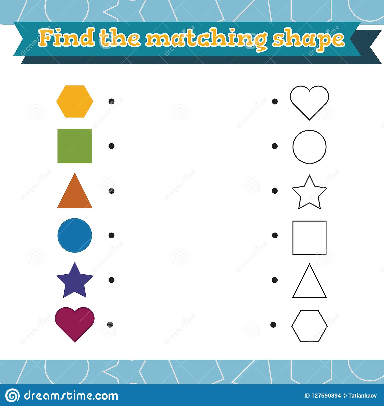 Preschool Worksheet Gallery Preschool Matching Shapes