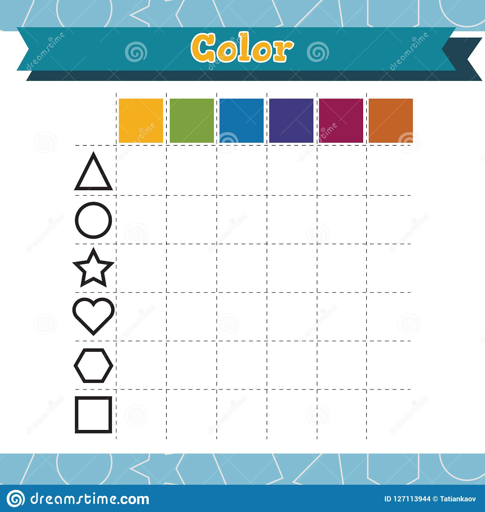 Learn Shapes And Geometric Figures Color Preschool Or