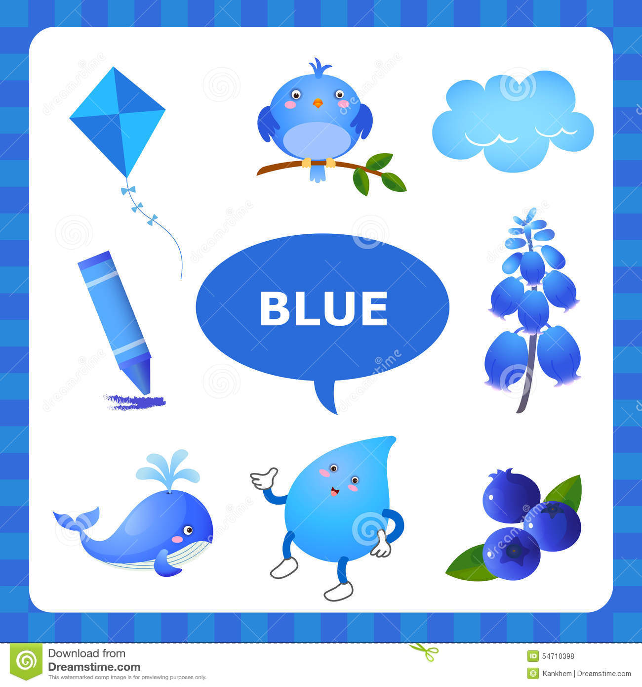 Learning Blue Color Stock Vector Illustration Of Bell