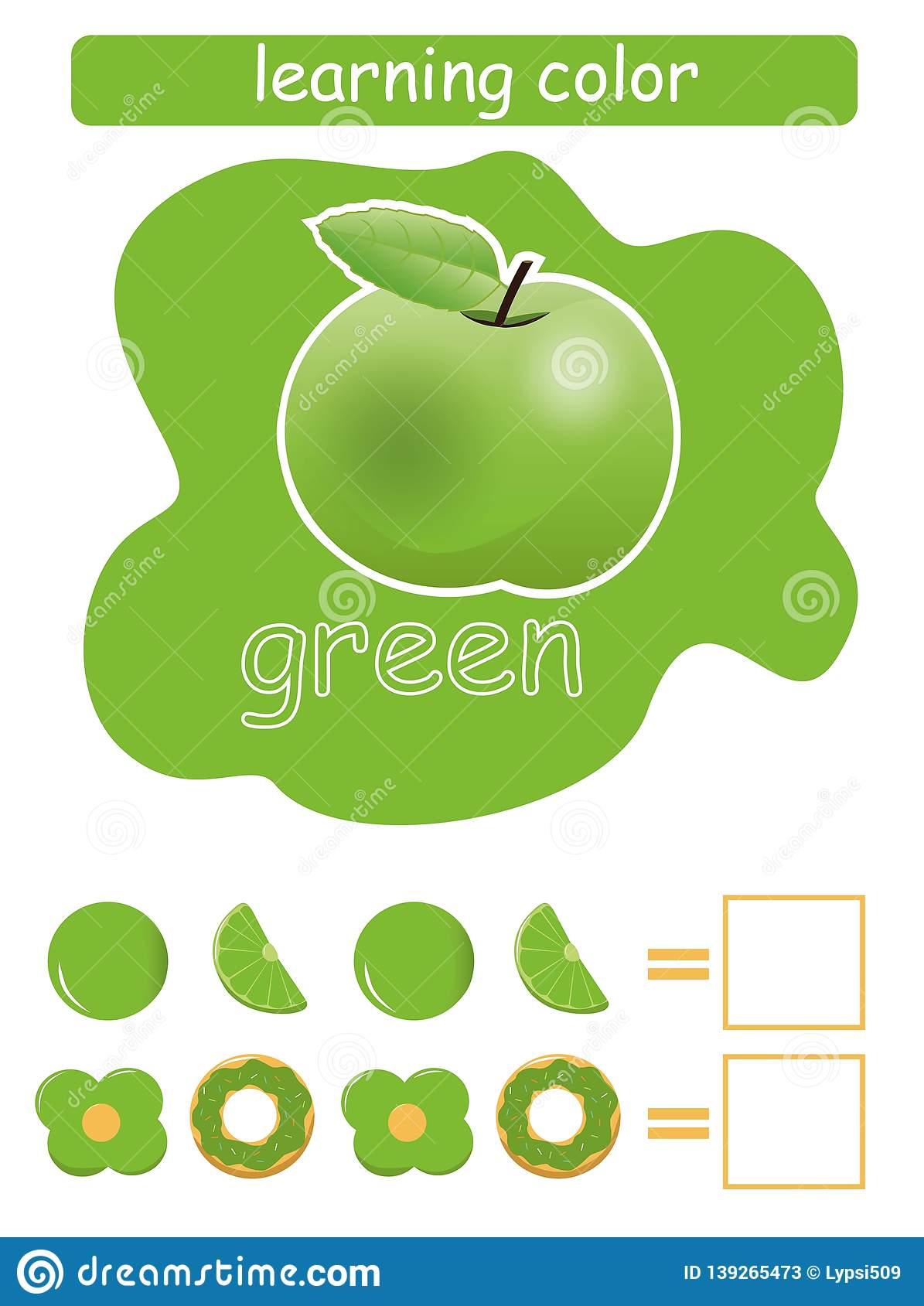 Learning Color Green Educational Game For Children