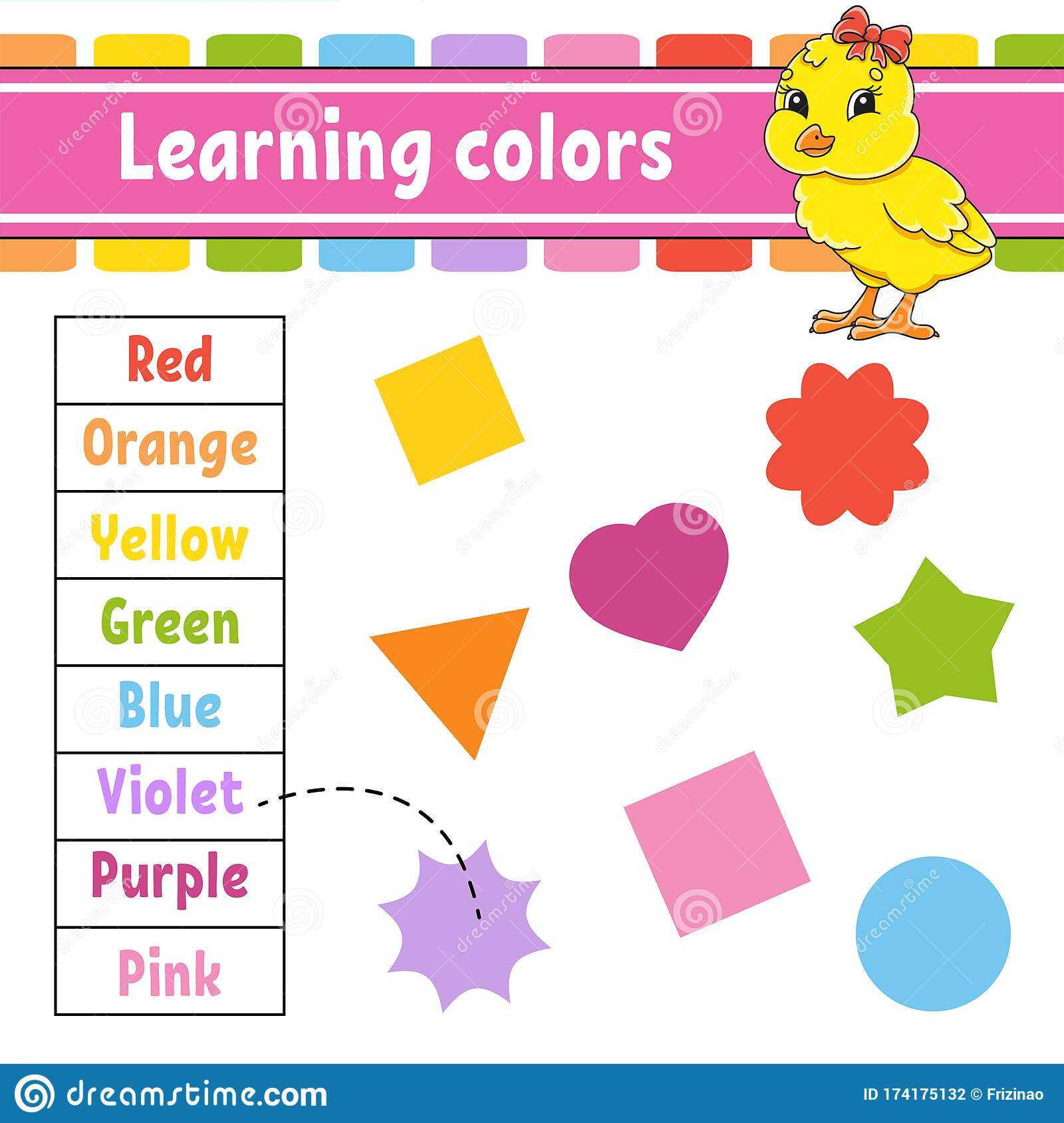 Learning Colors Education Developing Worksheet Baby
