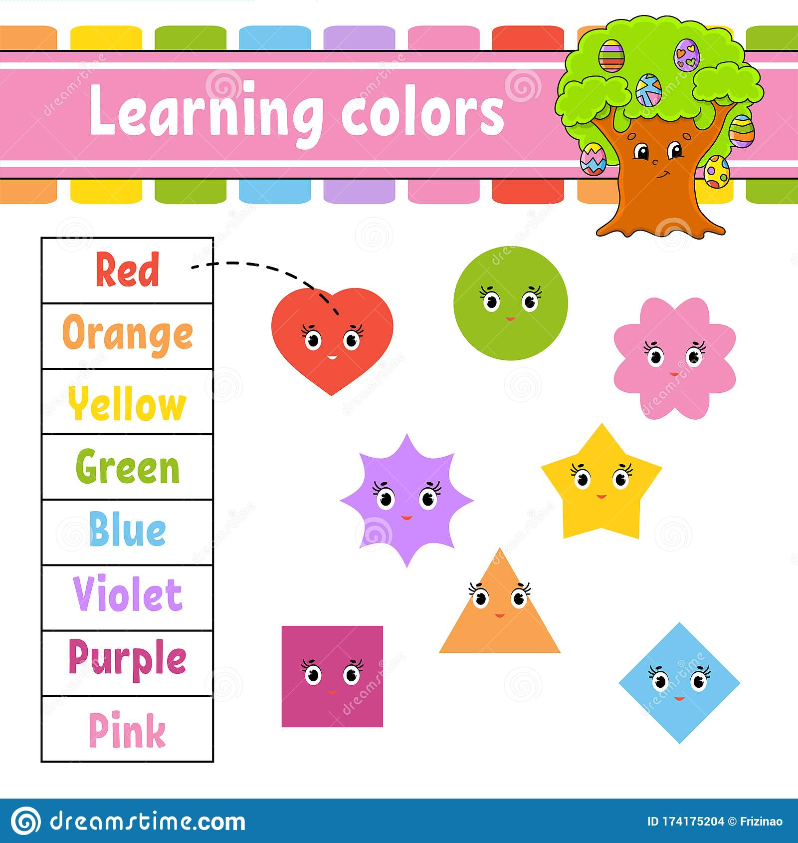 Learning Colors Education Developing Worksheet Easter