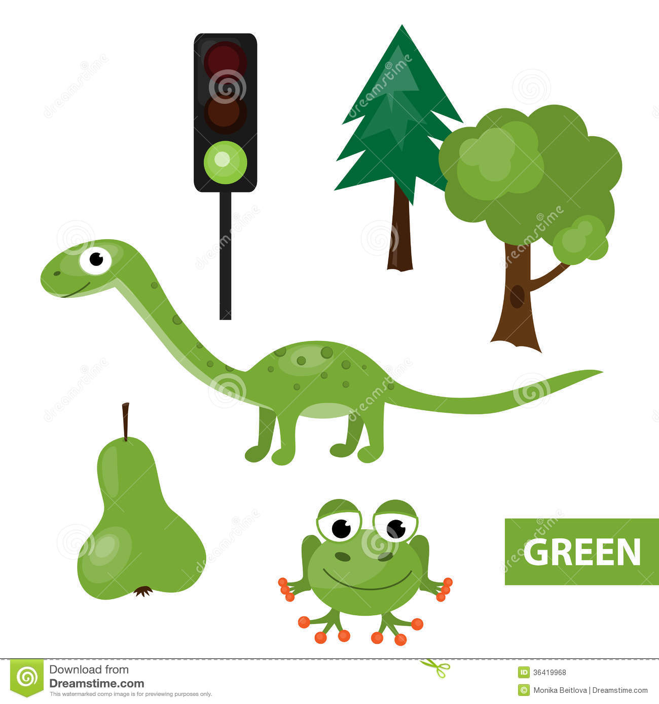 Learning Colors Green Royalty Free Stock Photos