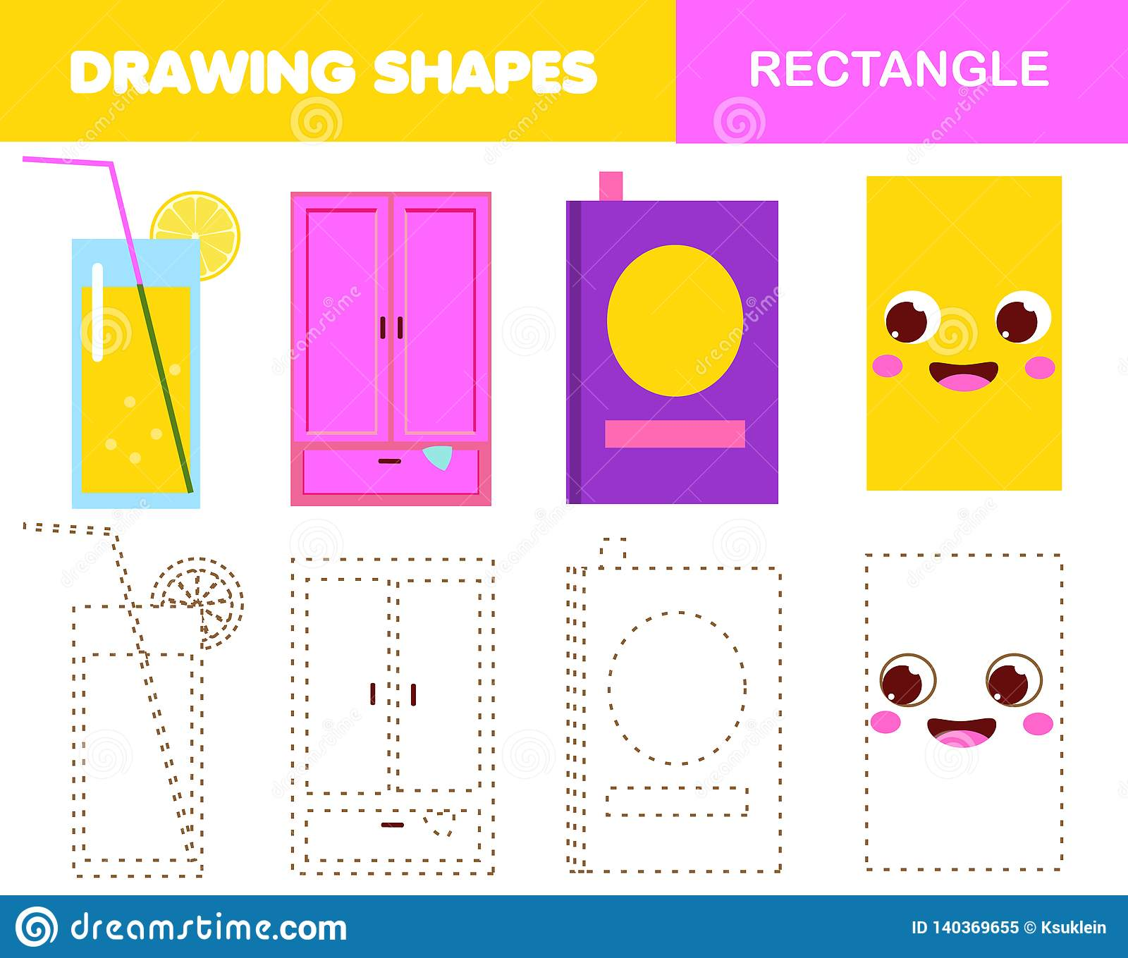 Learning Geometric Shapes For Kids Rectangle Handwriting