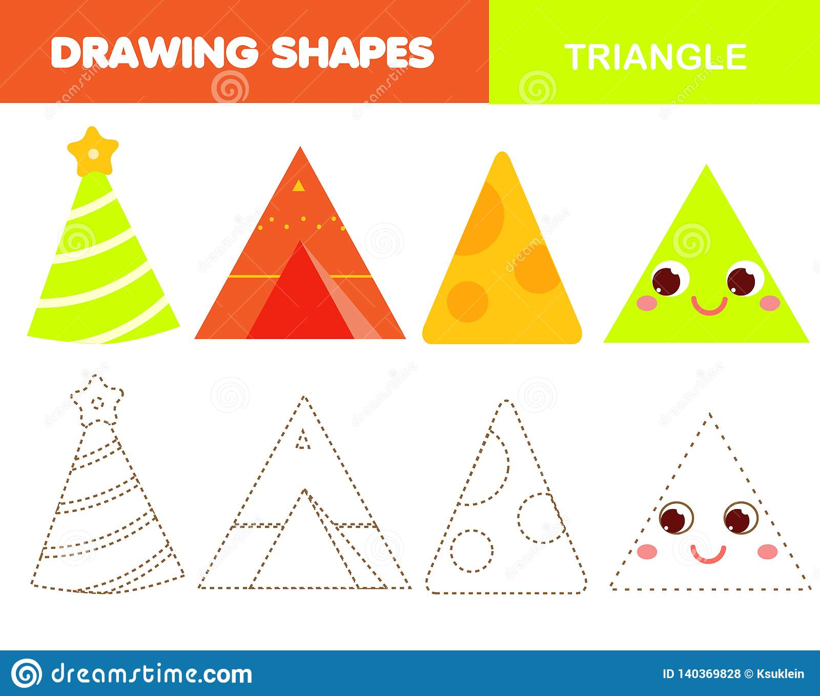 Learning Geometric Shapes For Kids Triangle Handwriting