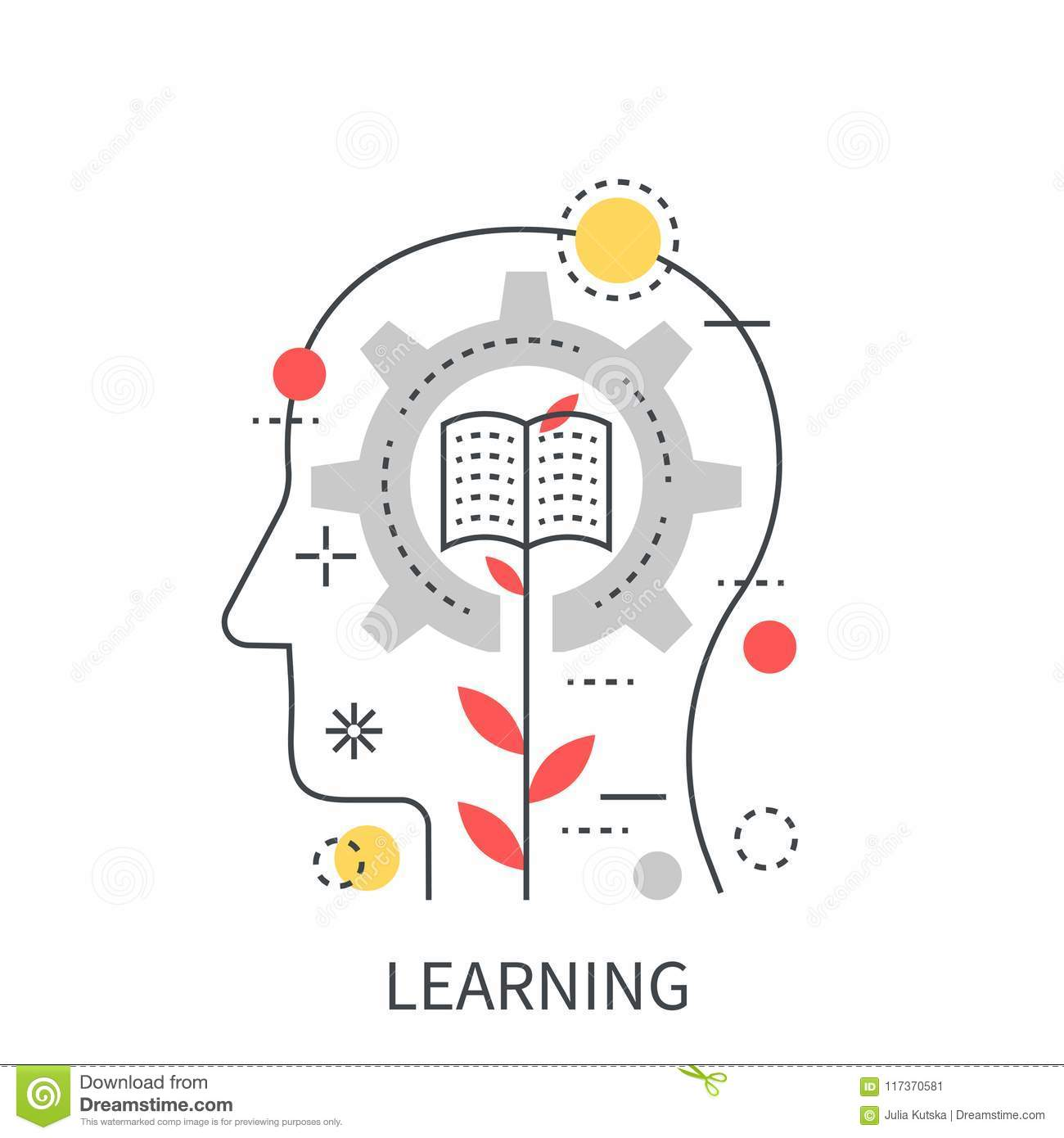 Learning Concept: Learning Computer On Chalkboard