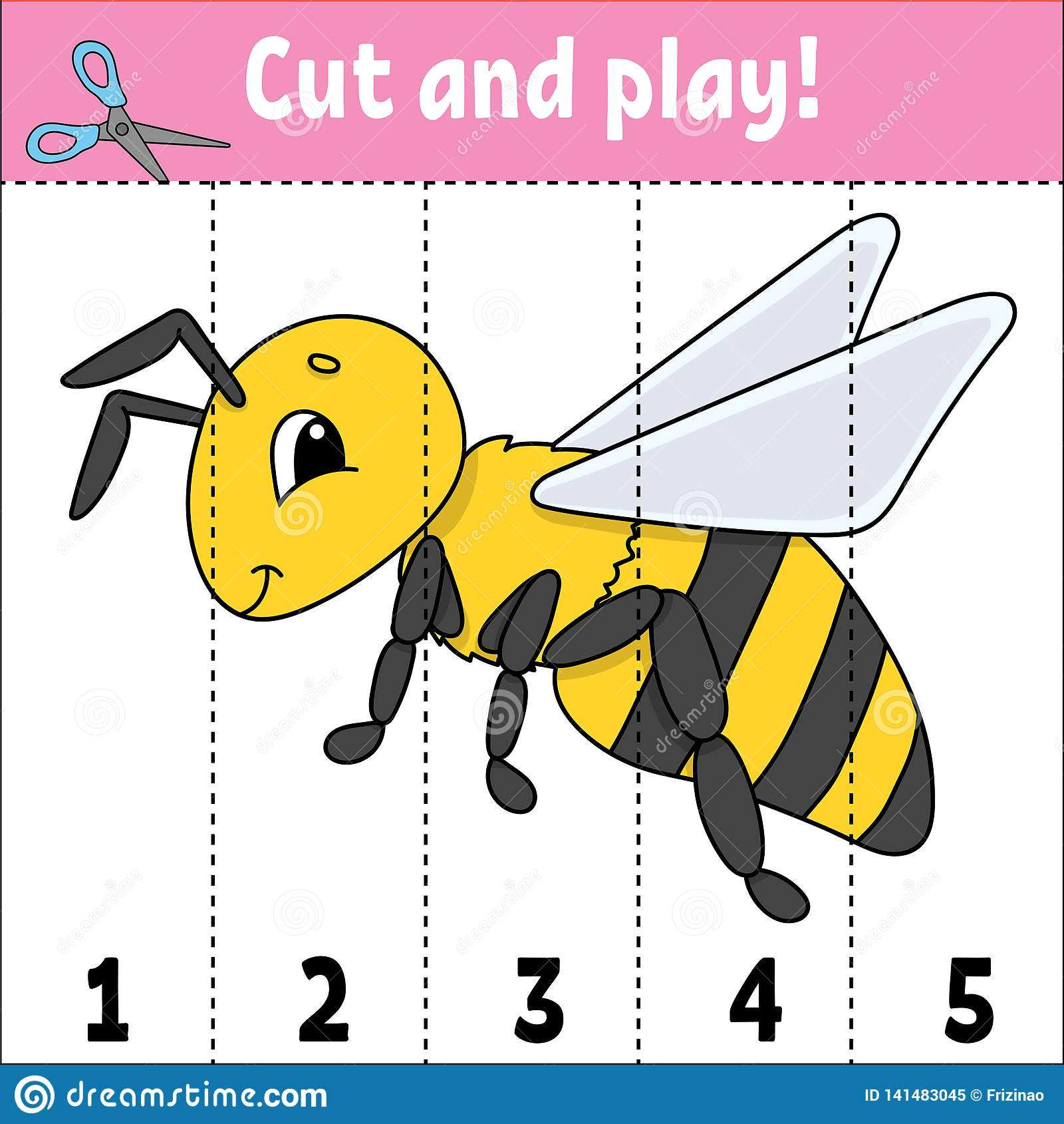 Learning Numbers Cut And Play Education Developing