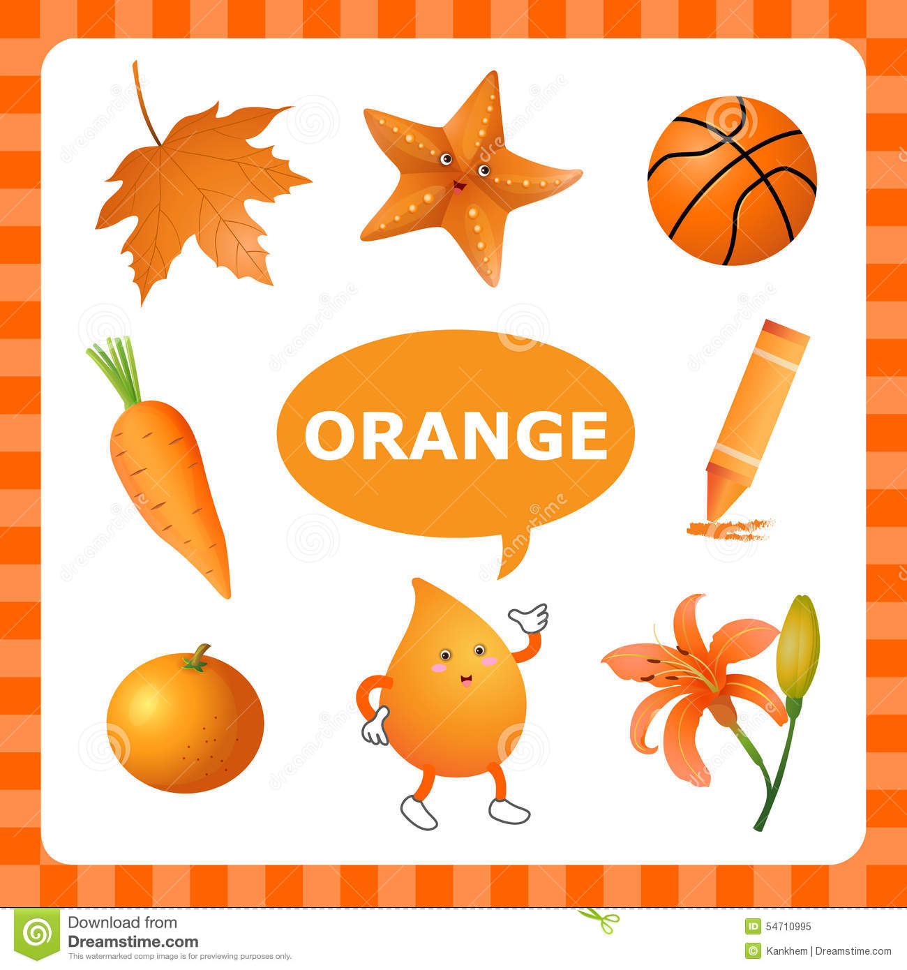 Learning Orangecolor Stock Vector Illustration Of Orange