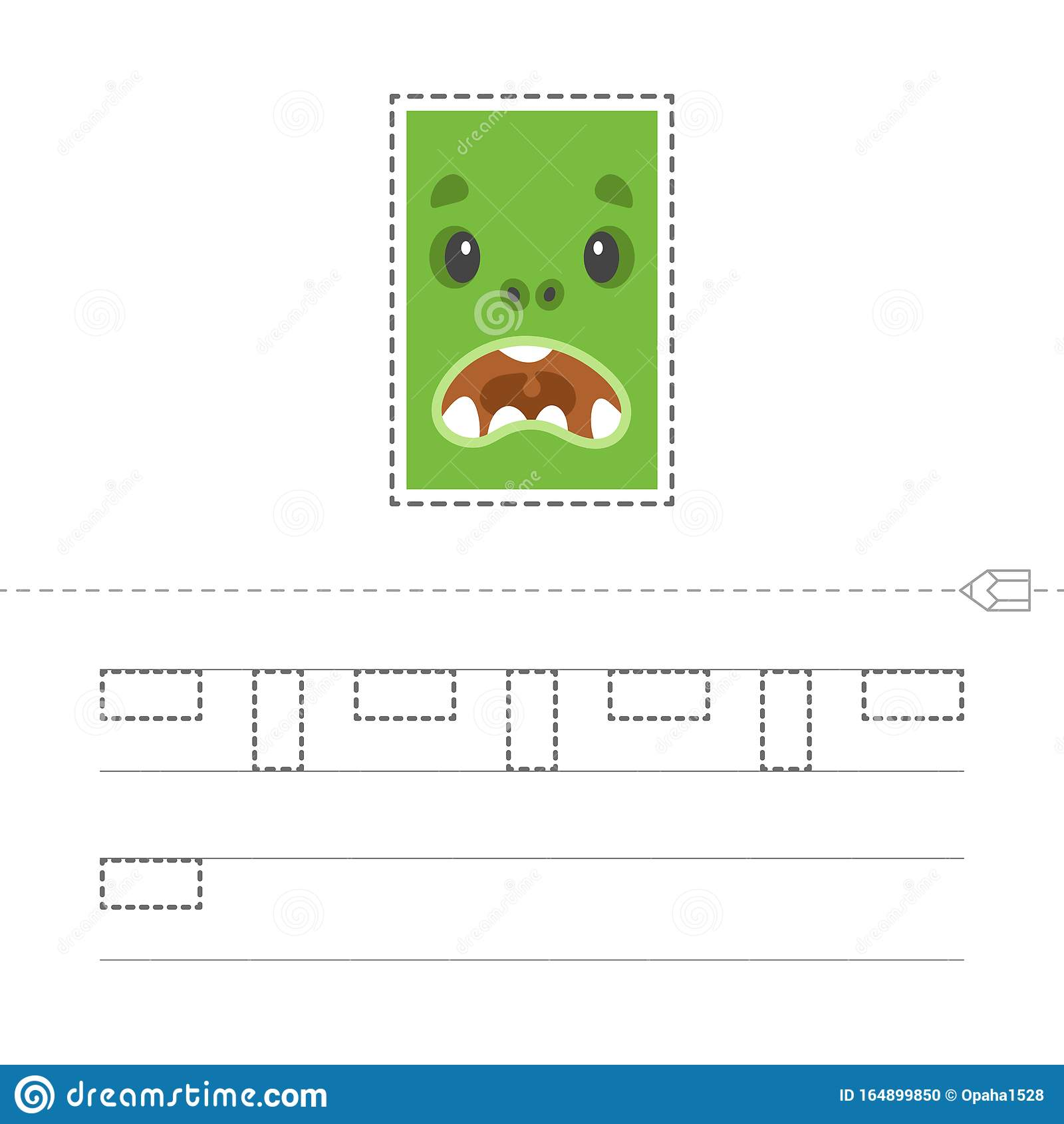 Learning To Draw A Rectangle Stock Vector