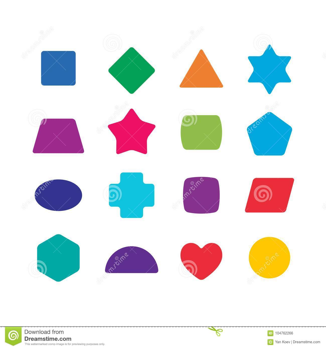 Learning Toys Color Shapes Set For Kids Education Stock