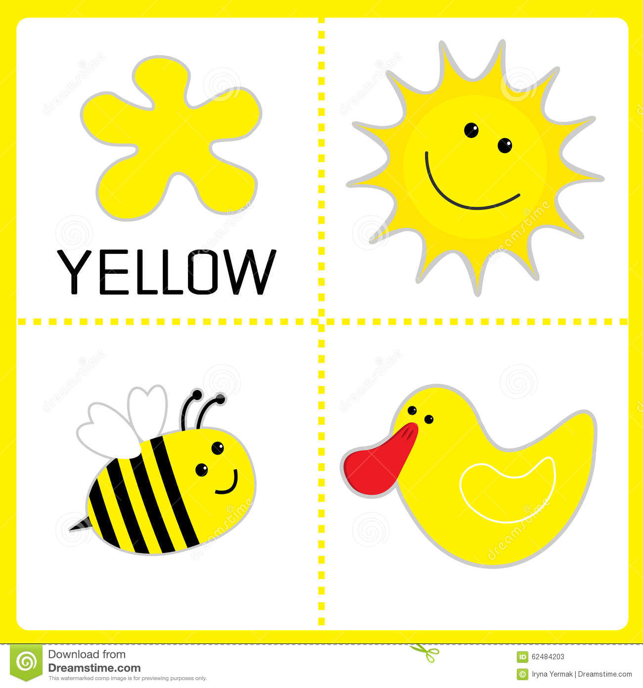 Circle Color Yellow Worksheet