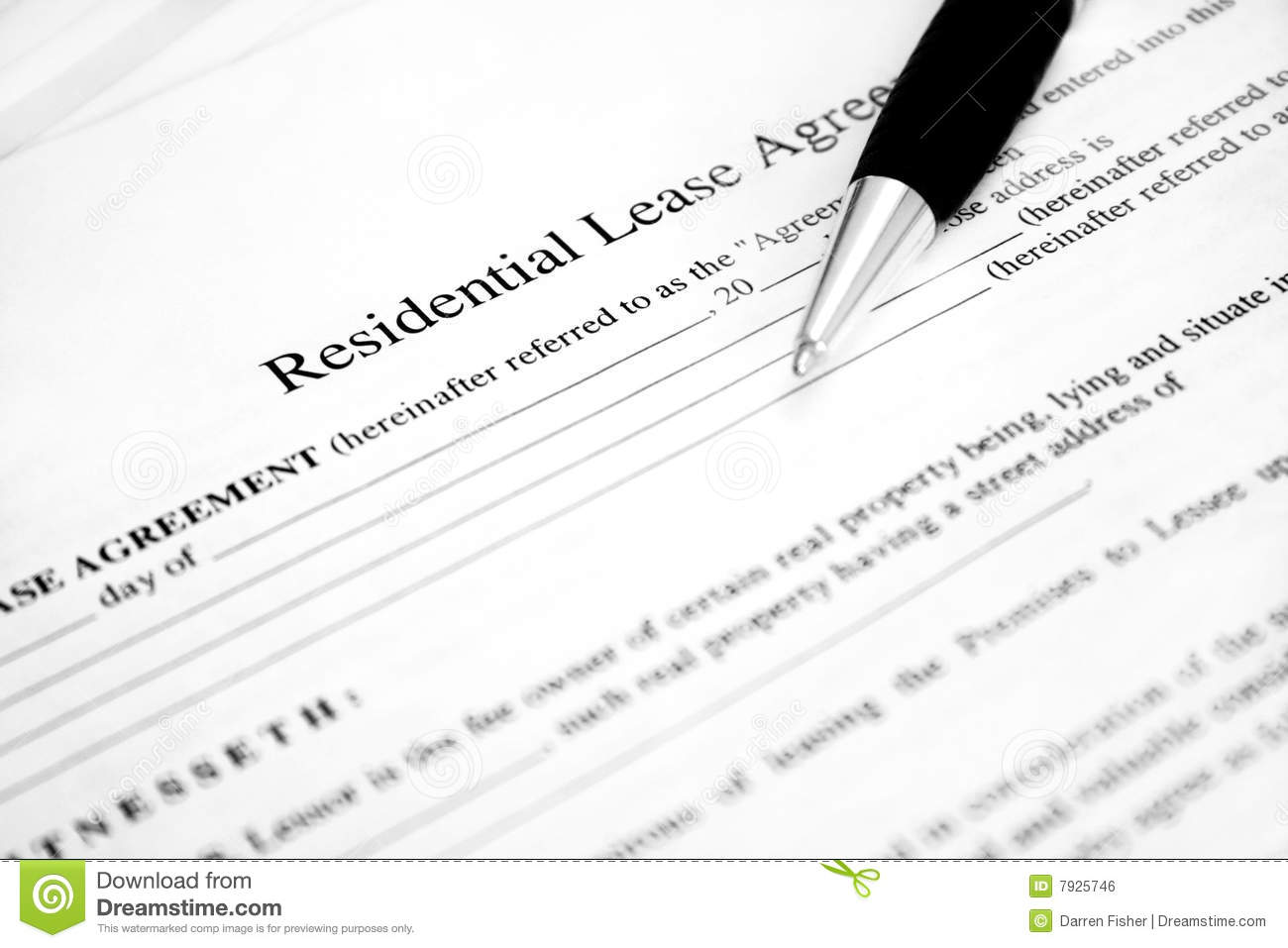Lease Agreement stock photo. Image of insurance, estate
