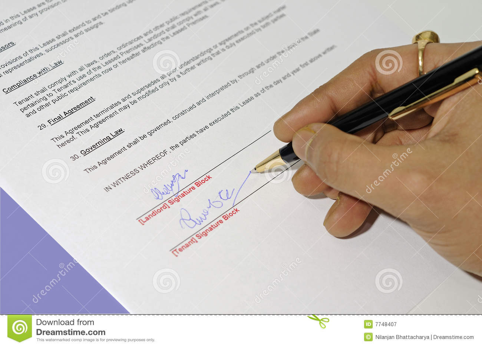 Hand Application Writing