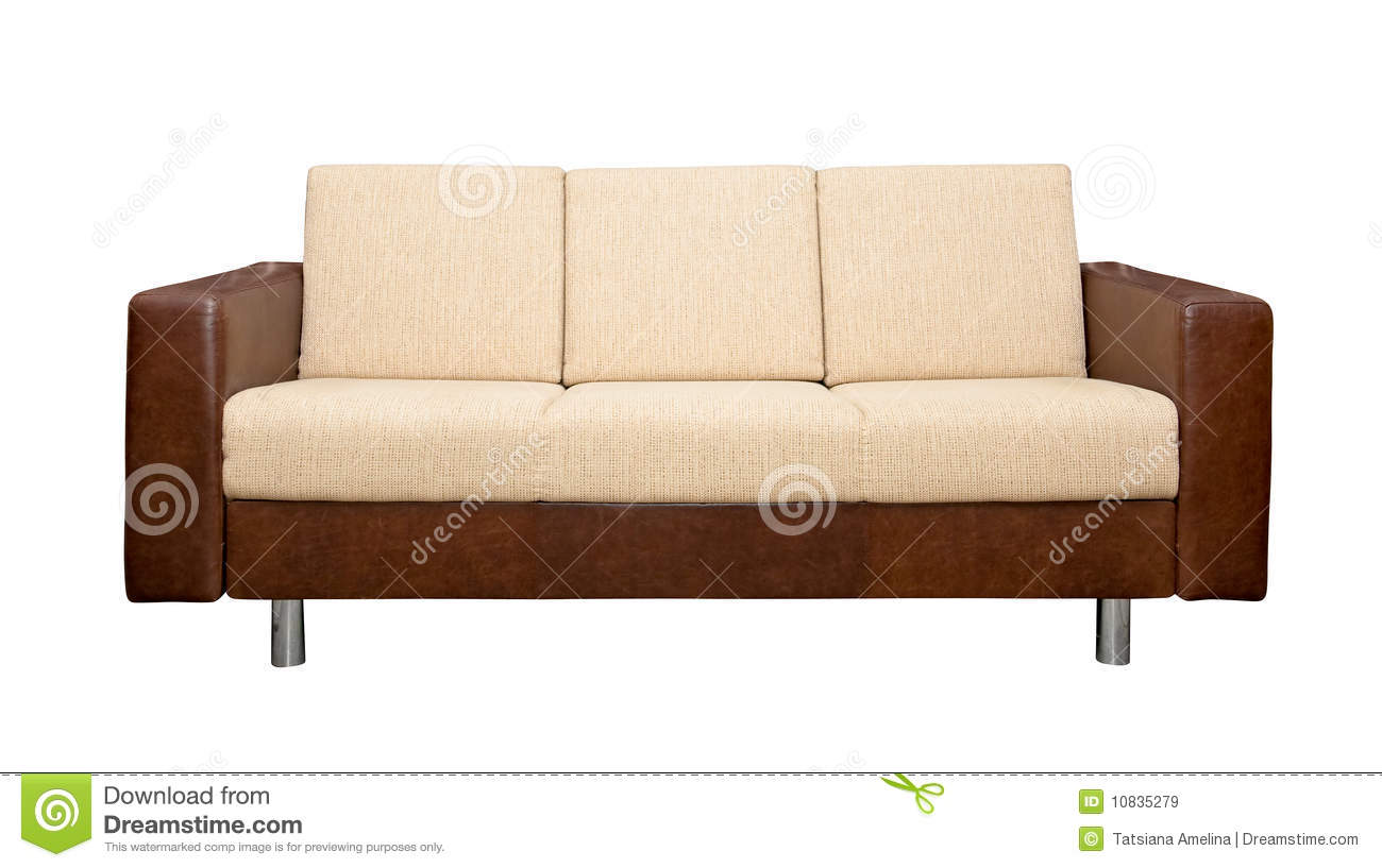 material and leather sofa marshfield with fabric upholstery stock image