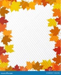 border leaves illustration background maple preview