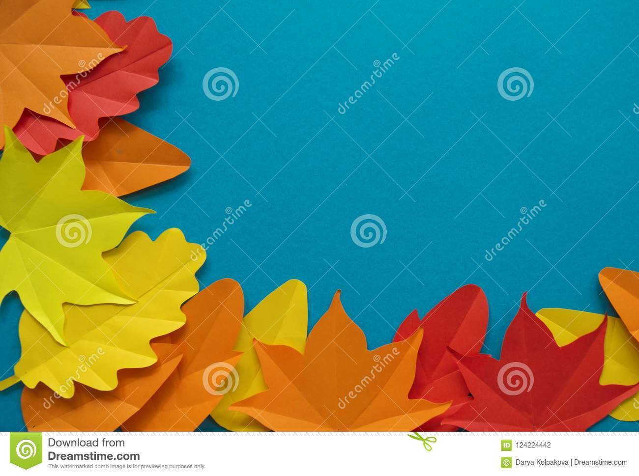 Leaves Of Paper Fall Red Orange Yellow Leaf Fall Stock