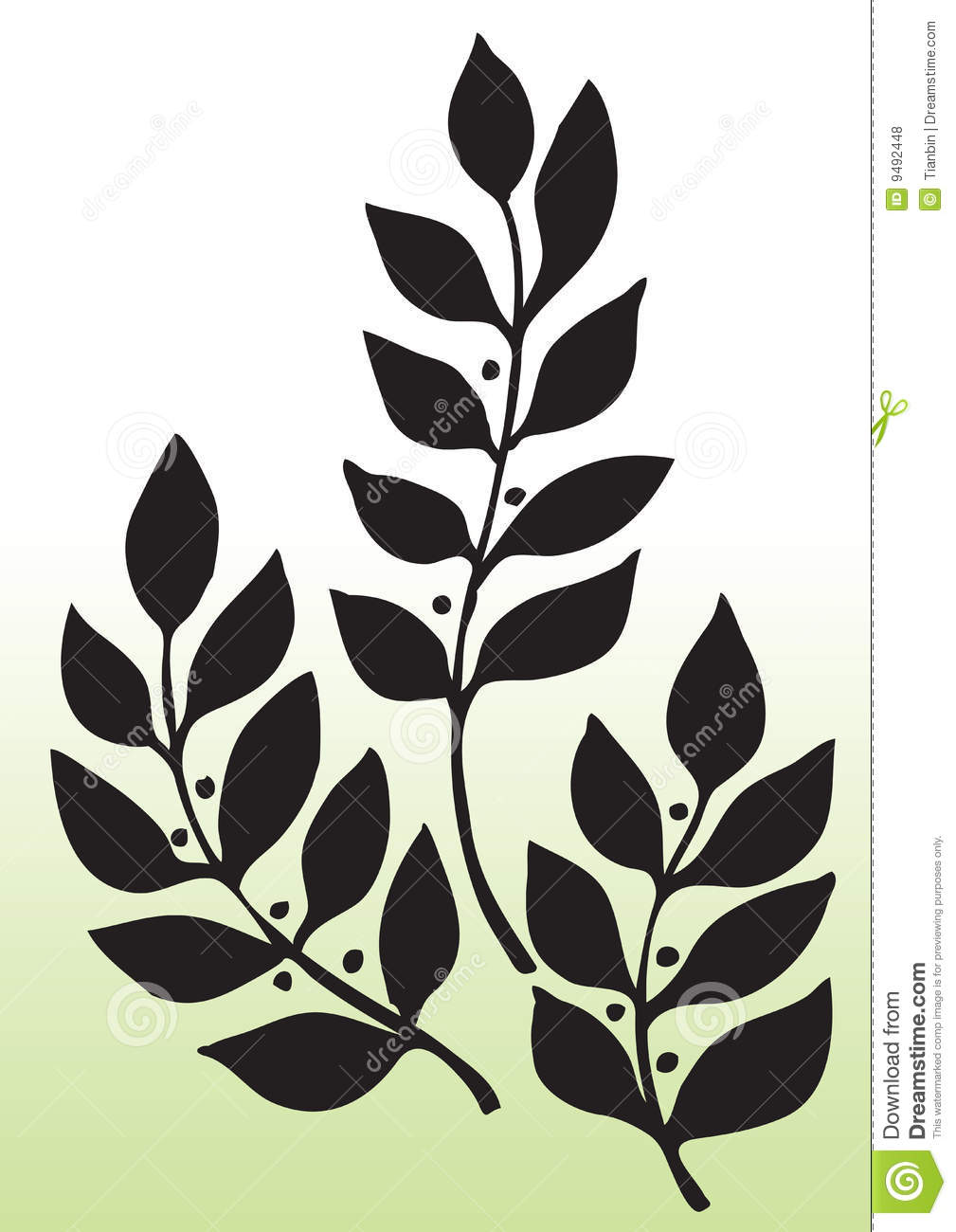 Leaves Silhouette Royalty Free Stock Photos Image 9492448