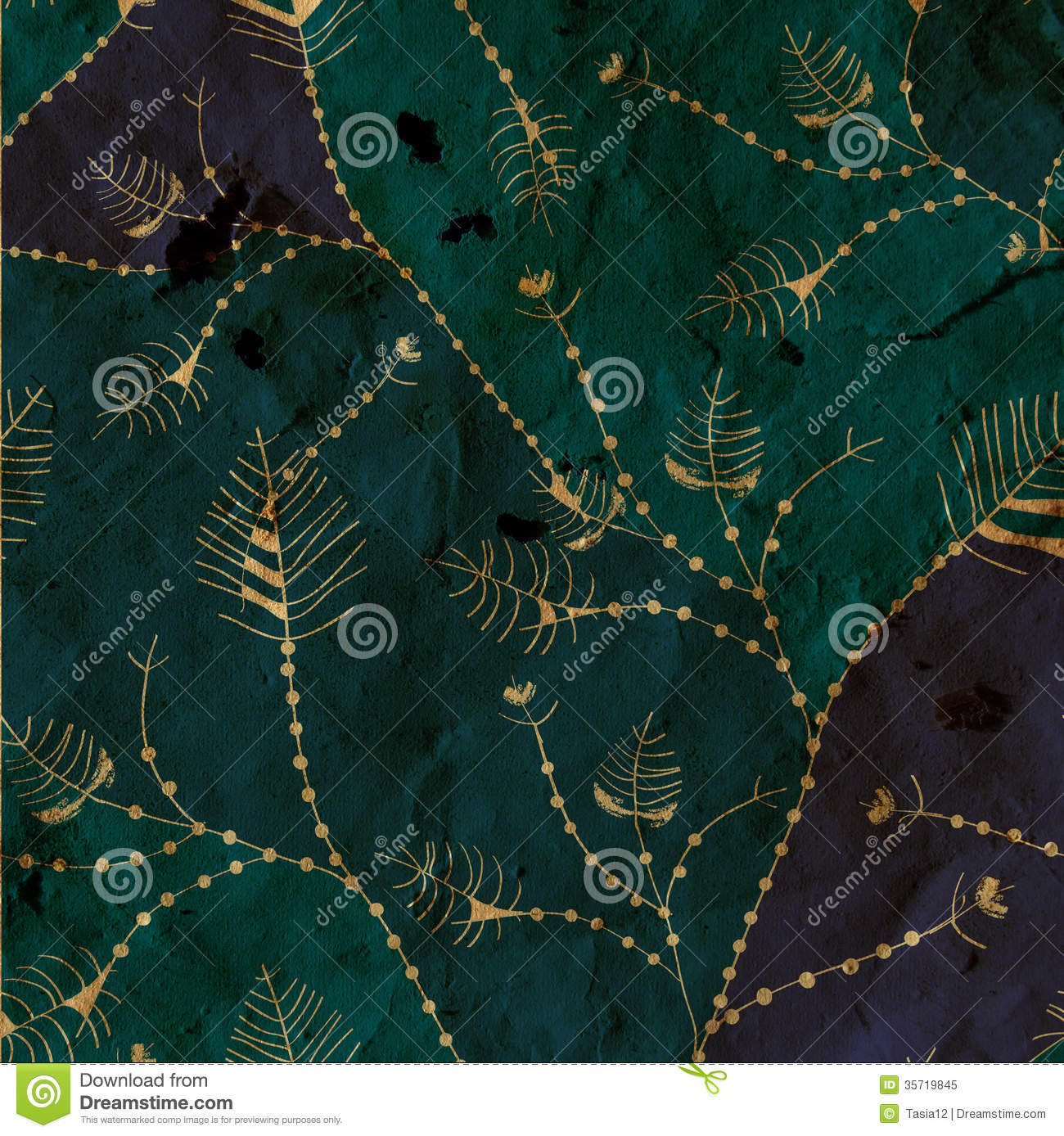 Fall Leaf Pattern Wallpaper Leaves Whimsical Background Paper Texture Royalty Free