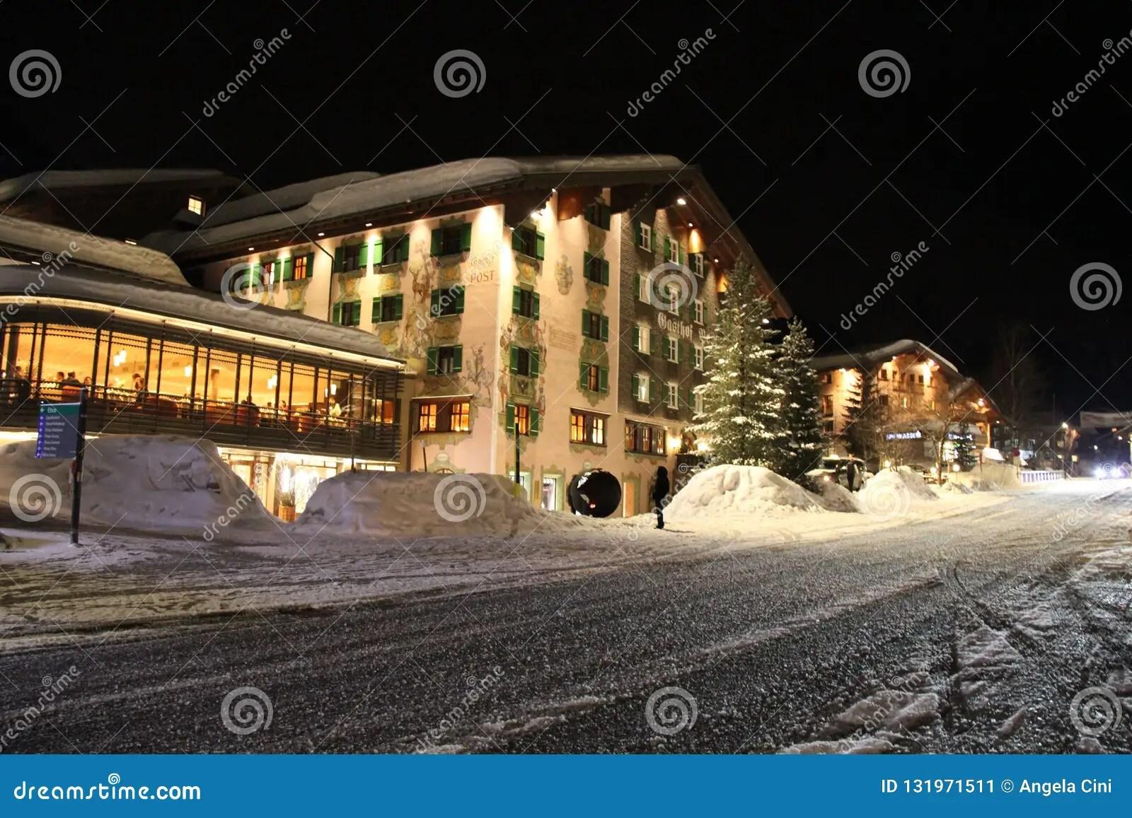 Hotel Gasthof Post Lech Am Arlberg Editorial Photo Image