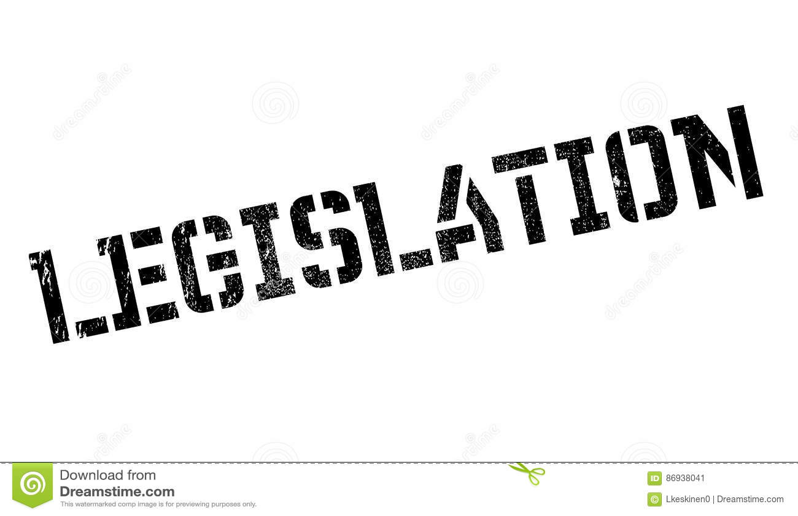 Legislation Rubber Stamp Royalty-Free Stock Image