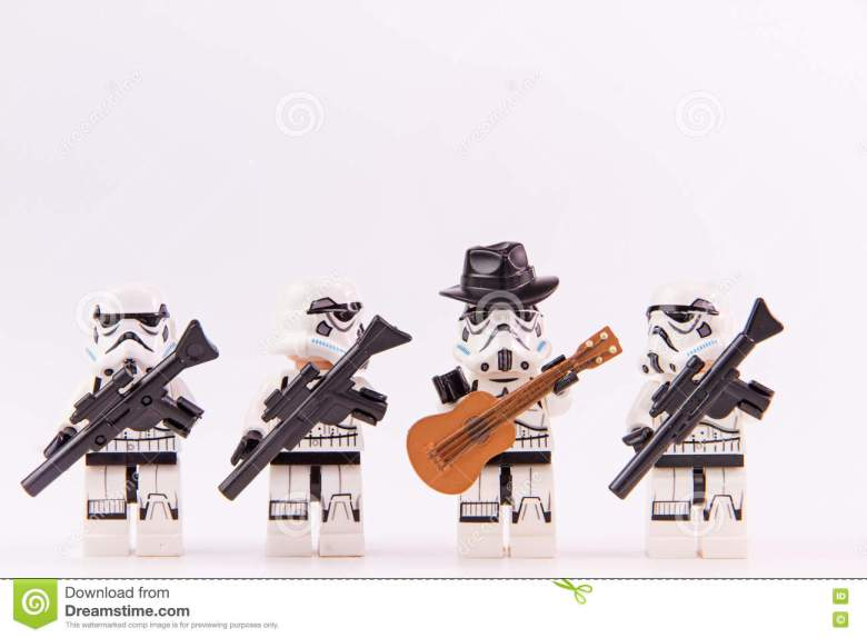 lego star wars guitarist editorial photo. image of mini - 74743286