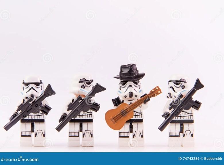 lego star wars guitarist editorial photo. image of mini - 74743286