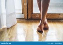 Barefoot Little Girl Legs