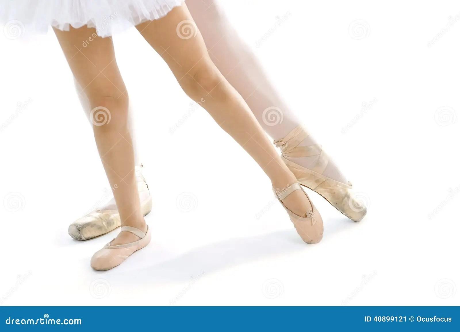 Legs And Feet Of Classical Ballet Dancer Teacher And