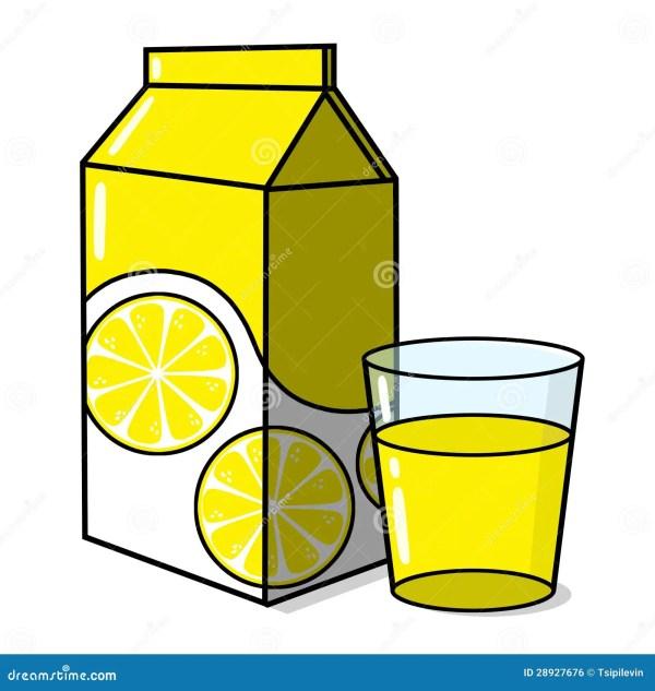 lemonade and glass stock illustration