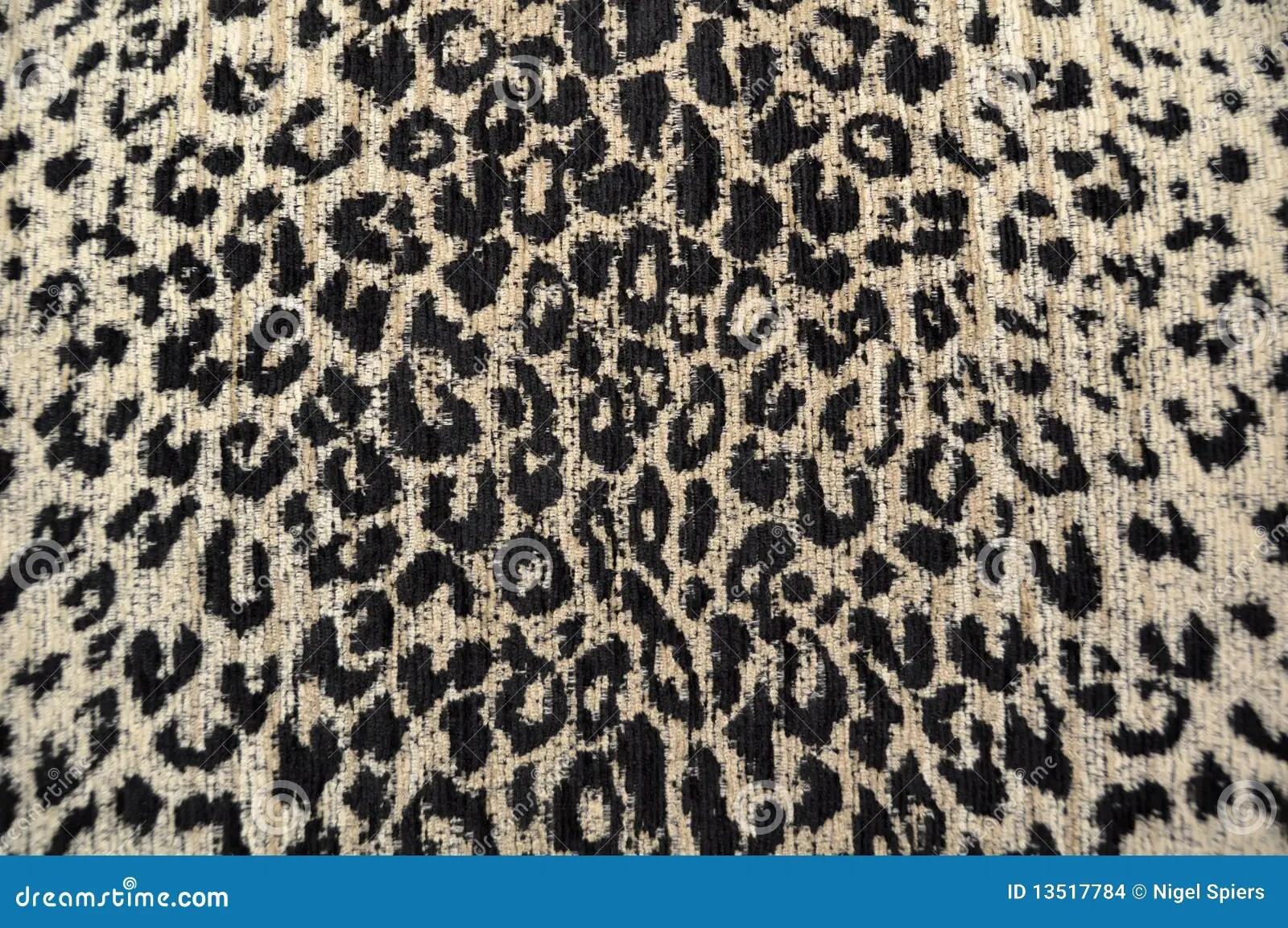 Leopard Fabric Black  Cream Stock Photo  Image 13517784