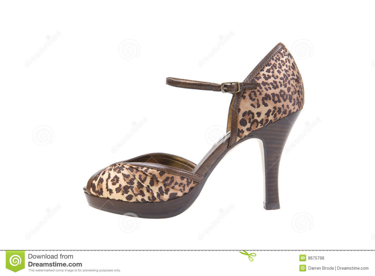 leopard high heel shoe chair in water pool chairs print royalty free stock photos image