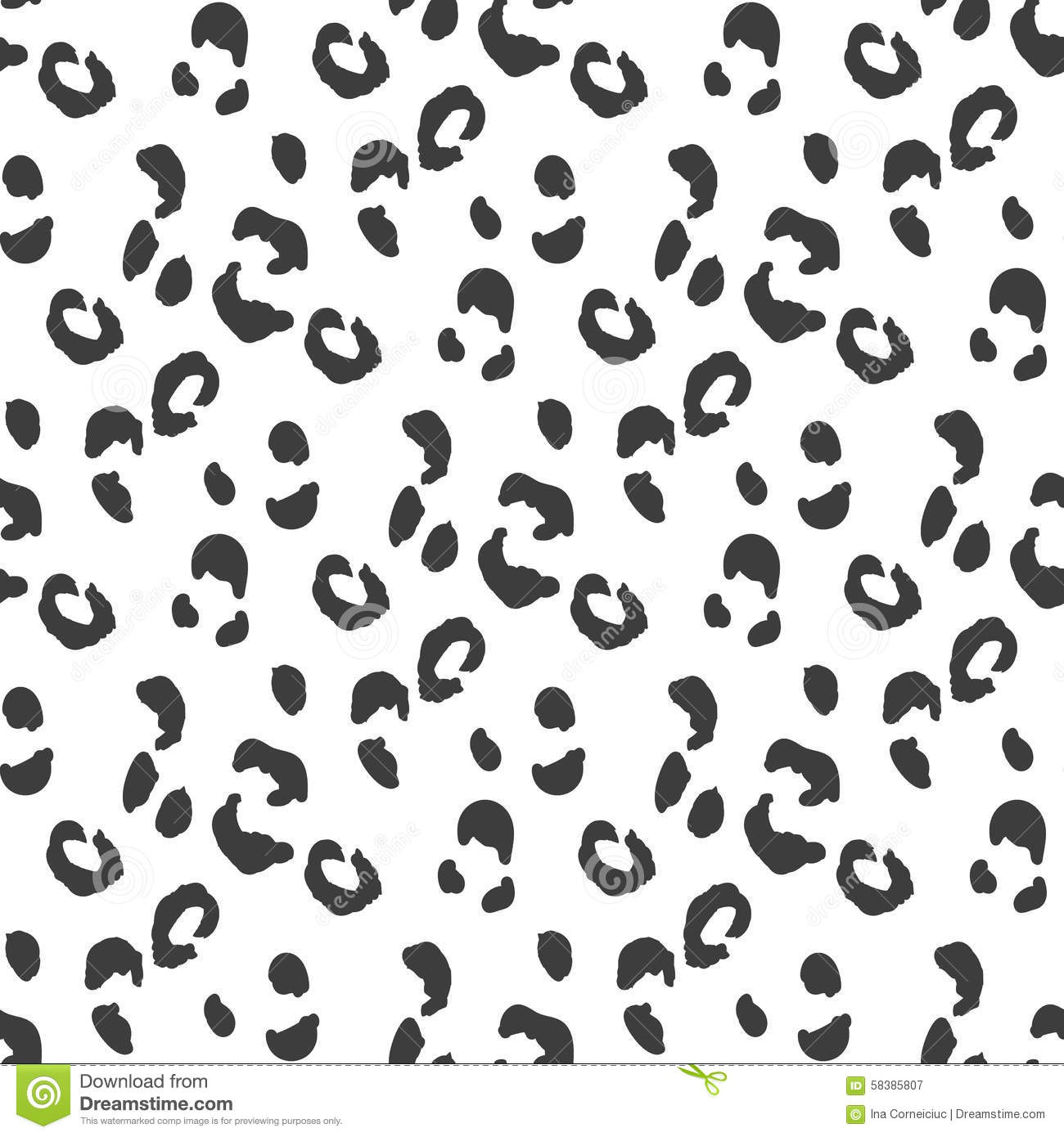 Leopard Skin Texture Cartoon Vector