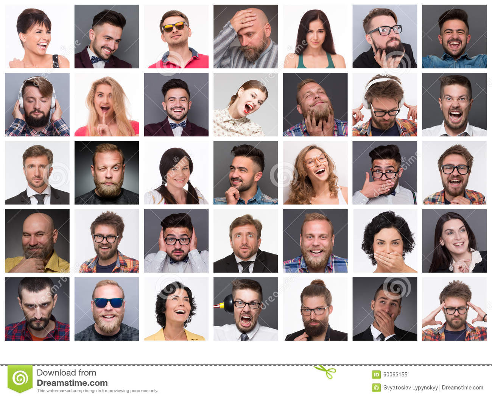 Les Gens Avec Differentes Emotions Image Stock