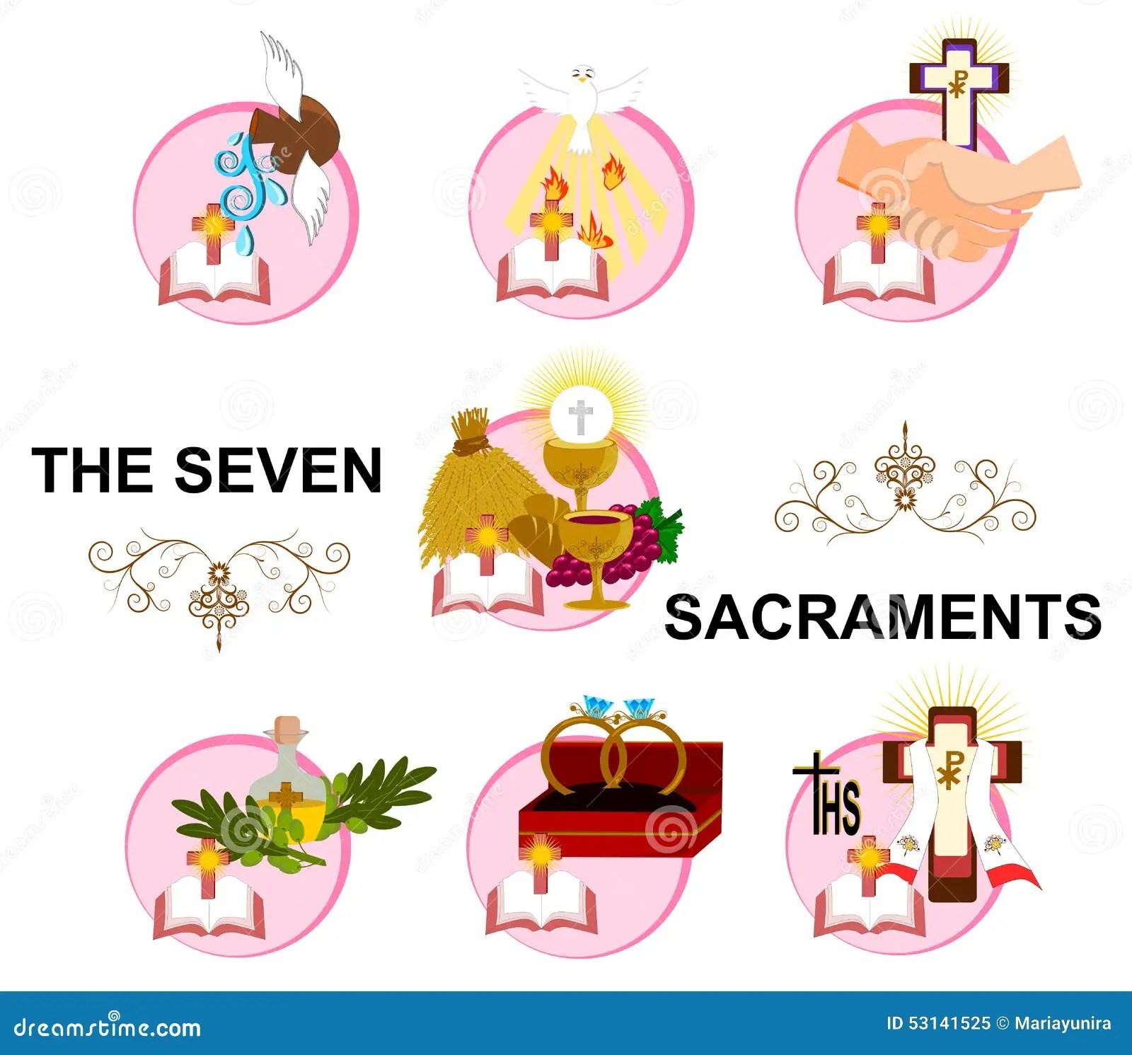 Les Sept Sacrements Illustration Stock Illustration Du