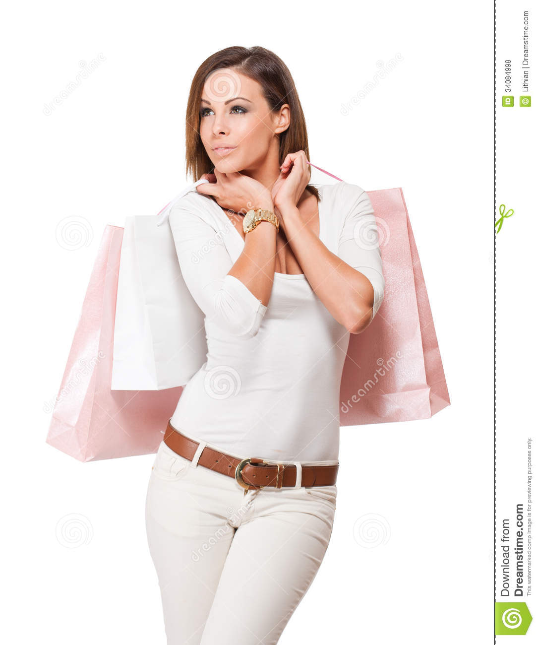 Let S Go Shopping Stock Photo Image Of Looking Isolated