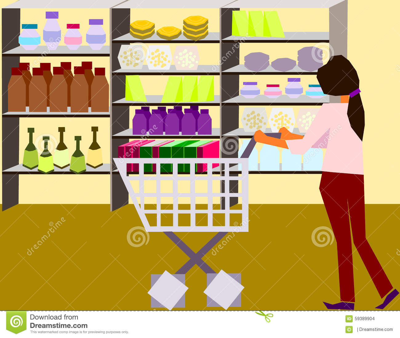 Let S Go Shopping Stock Vector Illustration Of Purchase