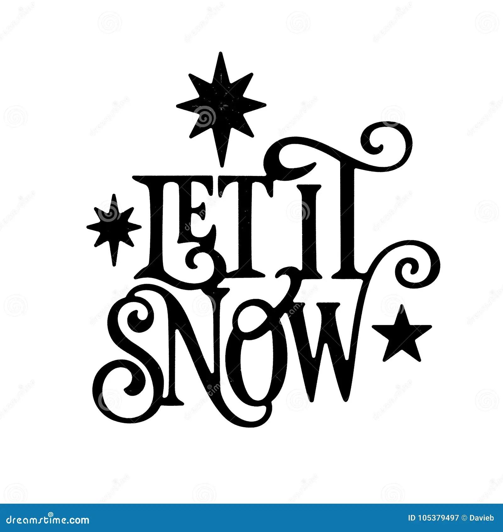 Let It Snow Christmas Wordart Stock Illustration