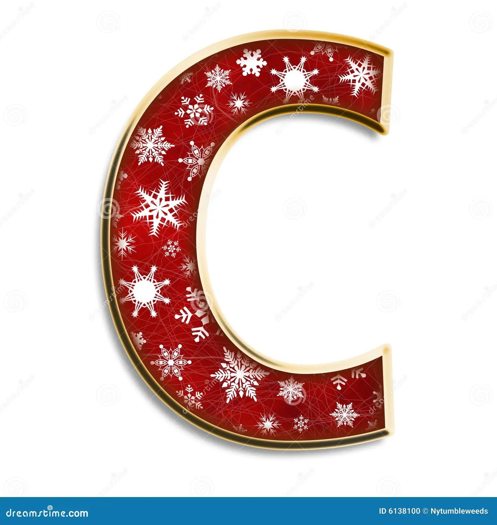 Letra C De La Navidad En Rojo Stock De Ilustracin