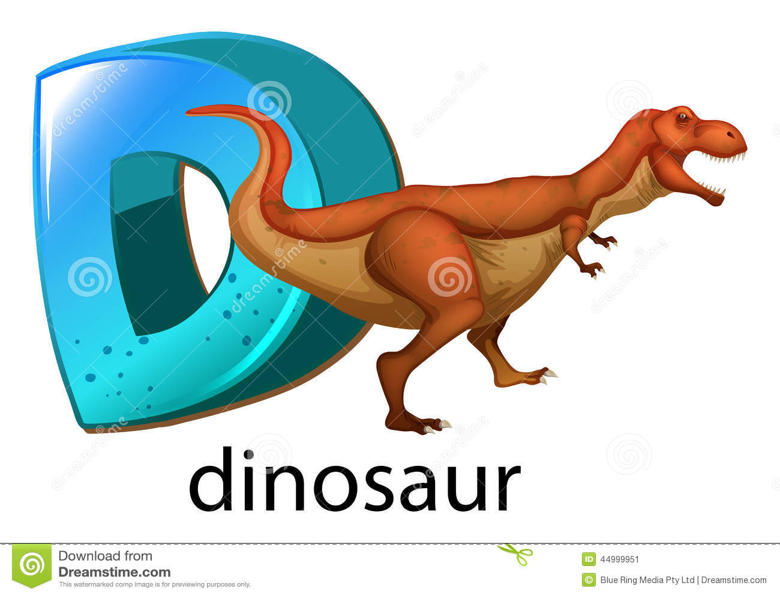 A Letter D For Dinosaur Stock Vector