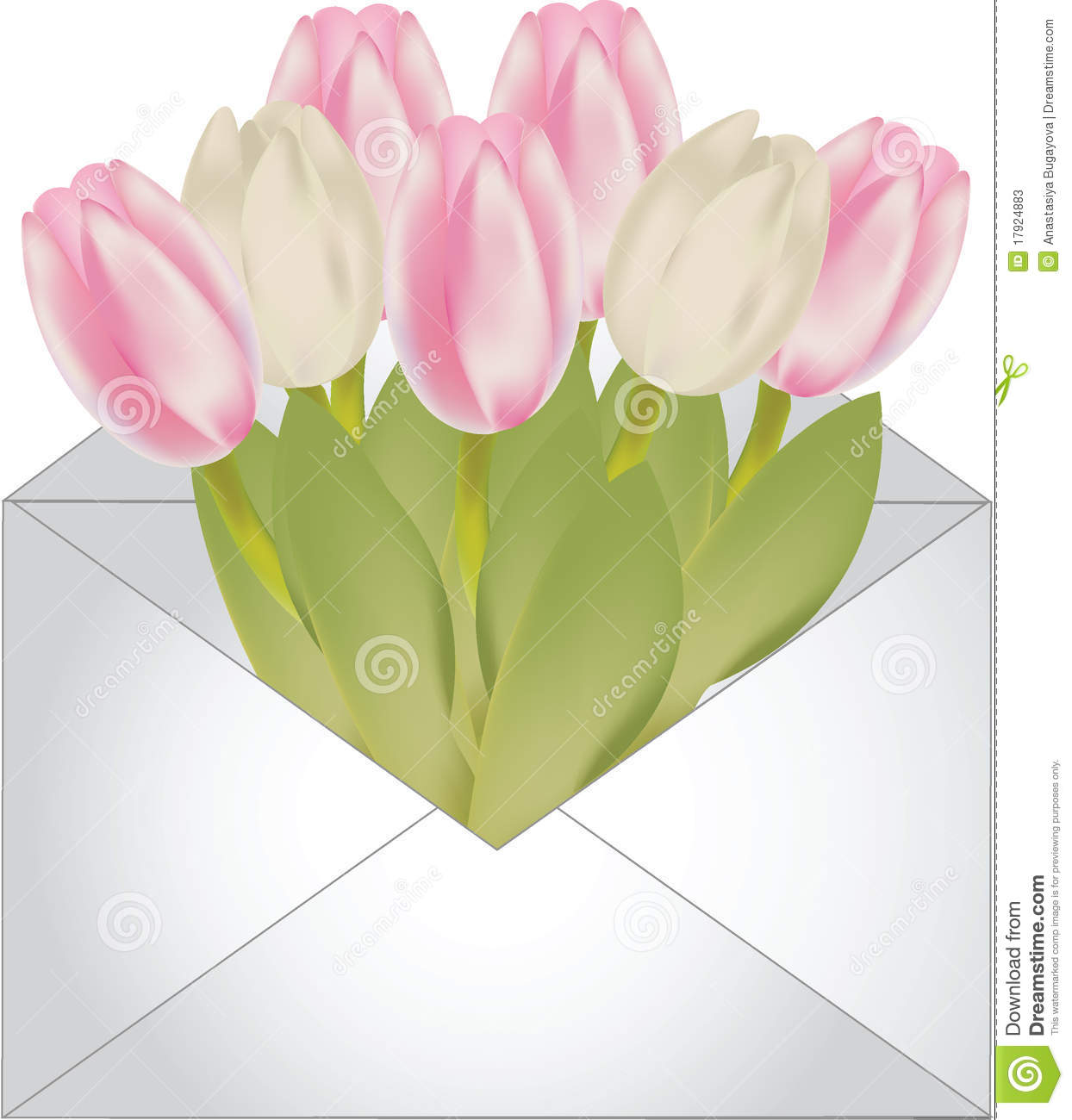 Letter With Flowers Stock Vector Illustration Of Decor