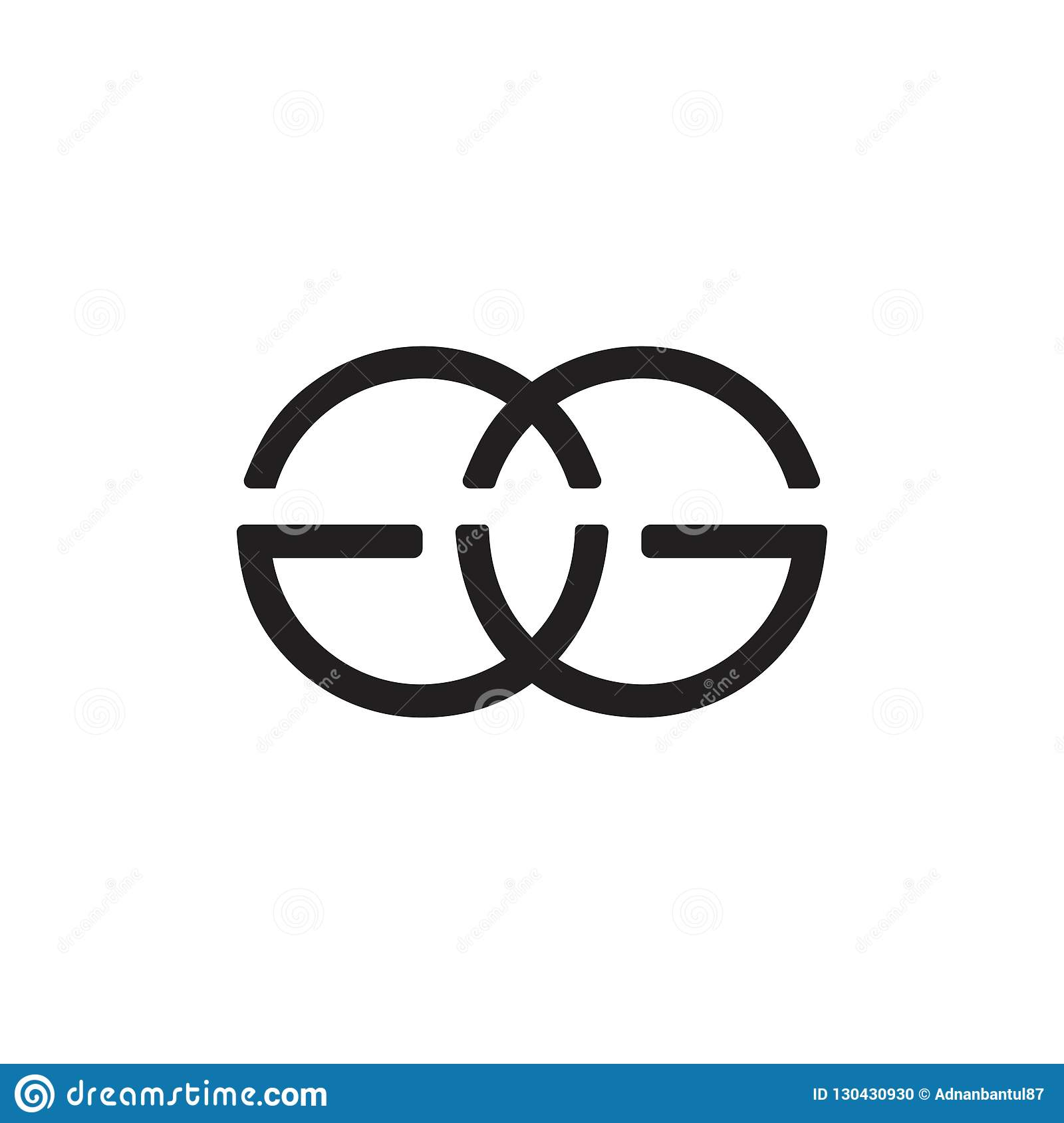 letter gg linked circle