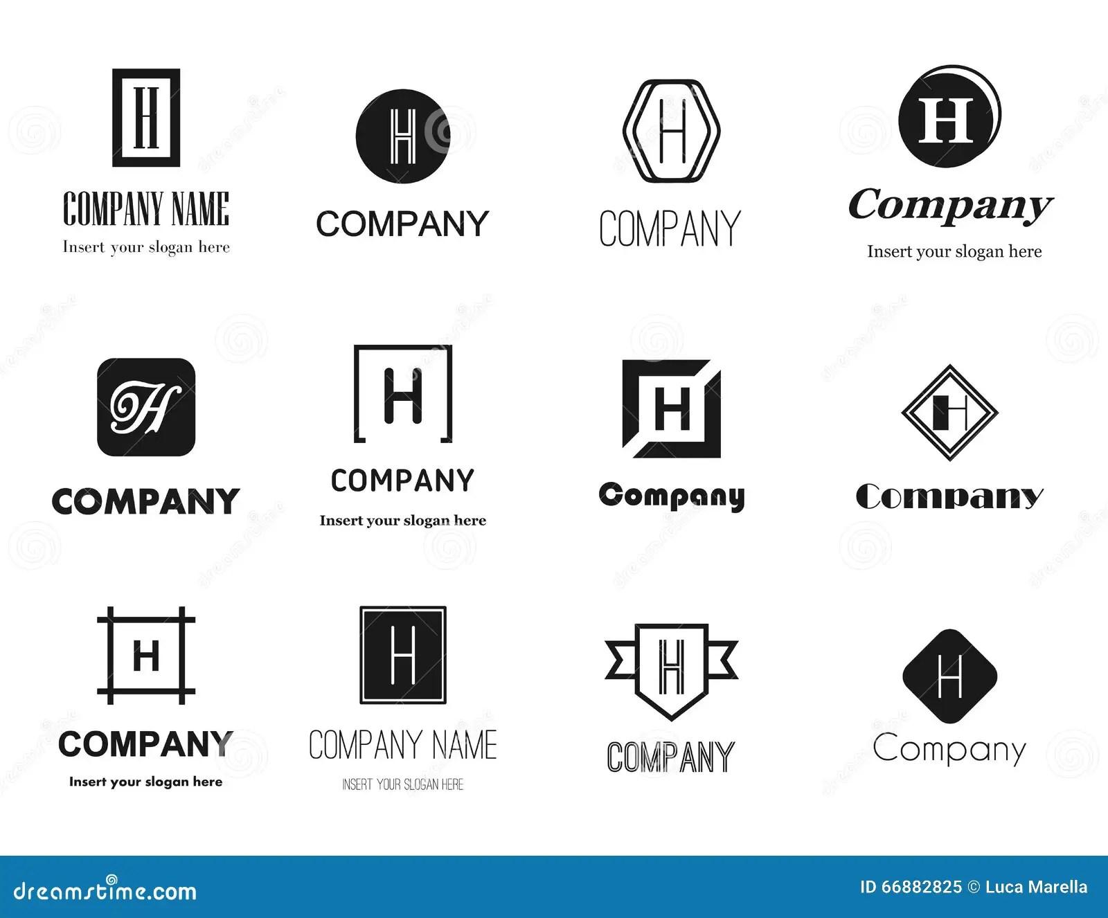 Vector Letter H (aitch) Logos Collection Stock Vector