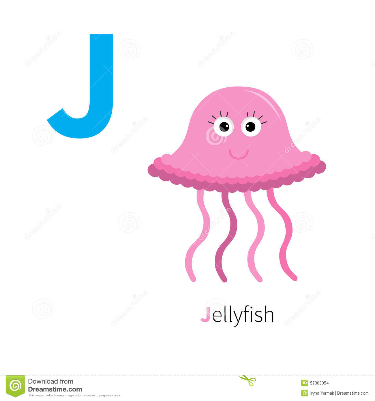 Letter J Jellyfish Zoo Alphabet English Abc With Animals