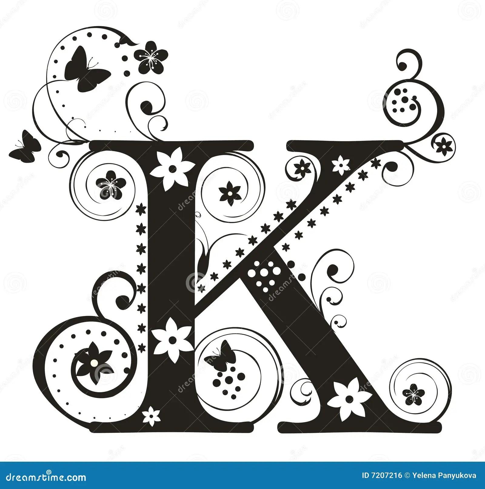 Letter K Stock Vector Illustration Of Flower Character
