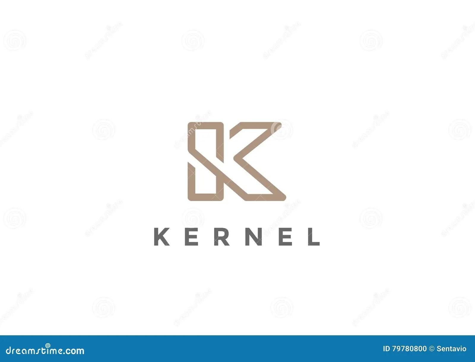 Letter K Logo Monogram Vector Linear Stock Vector