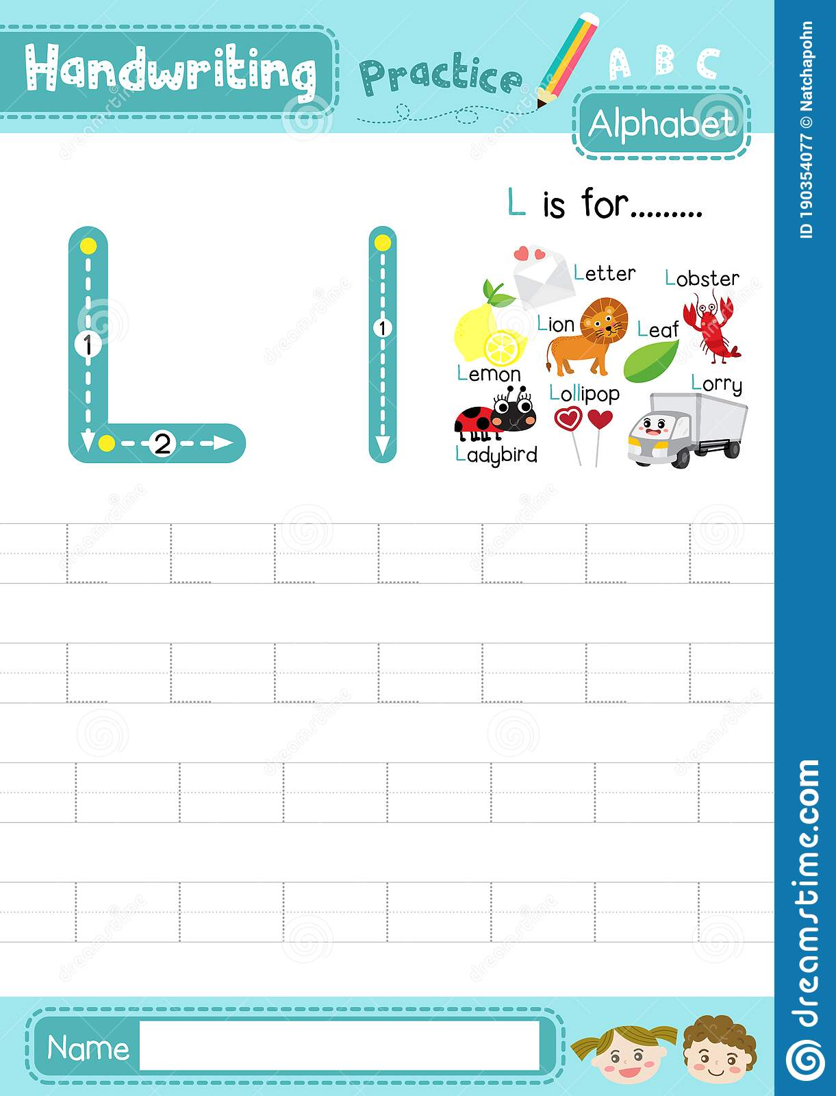 Letter L Uppercase And Lowercase Tracing Practice
